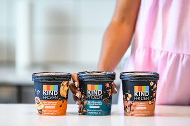 These KIND FROZEN vegan ice cream pints are plant-based treats.