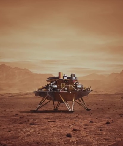 China's Zhurong rover on the surface of Mars