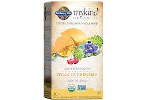 Garden of Life mykind Organics 2,000 IU Vitamin D Chewable Tablets (30 Count)