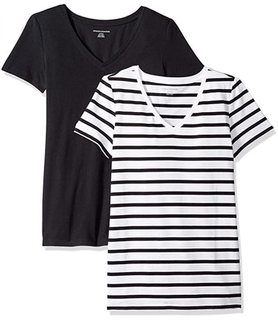 Amazon Essentials Classic-Fit V-Neck T-Shirt (2-Pack)