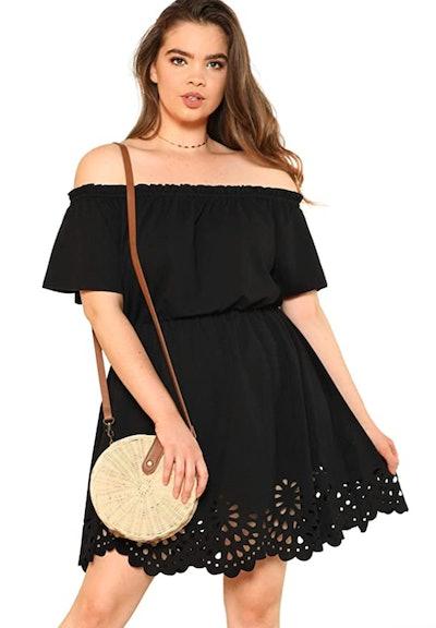 Romwe Off The Shoulder Dress