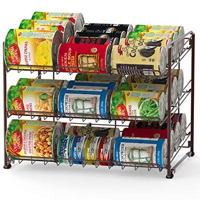 Simple Houseware Stackable Can Rack Organizer,