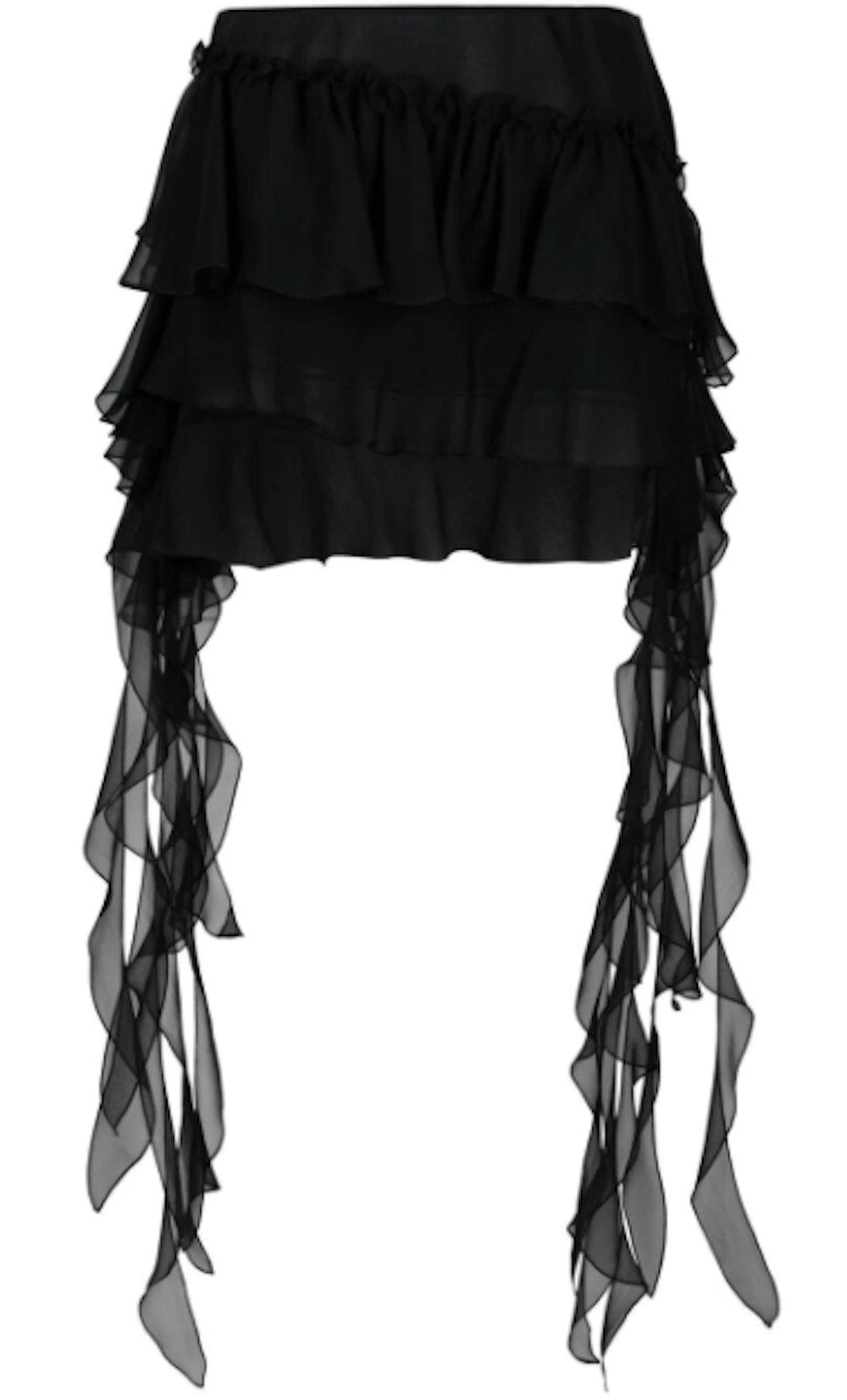 Ruffle-Detail Short Skirt