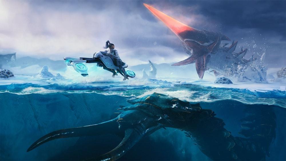 subnautica below zero ice worm enemy
