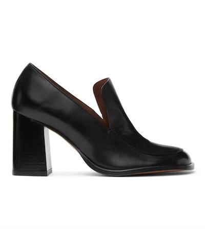 Black Duck Loafer Heels