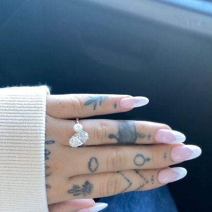 Ariana Grande's engagement ring.