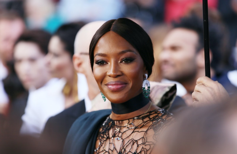 Naomi Campbell on the red carpet at the 71st Cannes Film Festival