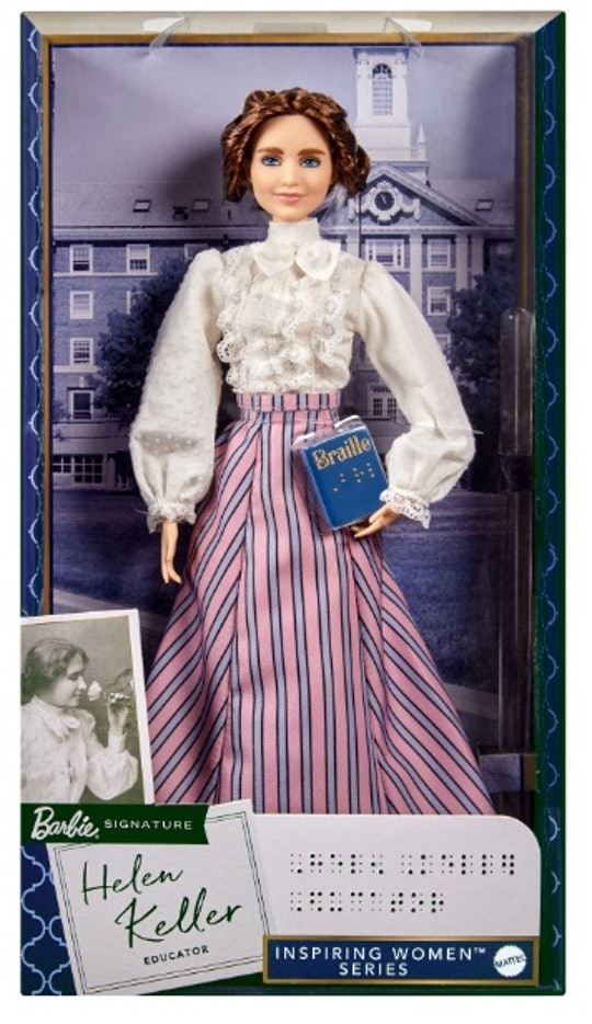 The Helen Keller Barbie doll is the newest one in the Inspiring Women series.