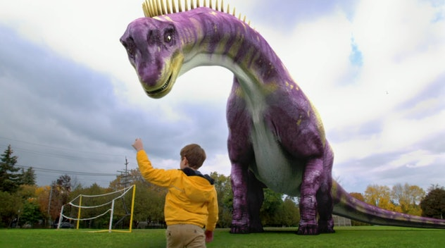 'Dino Dan' features live action film with computer generated dinosaurs.