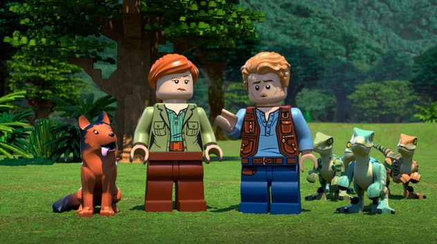 'Legend of Isla Nublar' features animated Lego mini-figures in the roles first seen in 'Jurassic Wor...