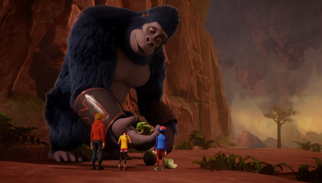 Kong King of The Apes is one of three animated King Kong series.