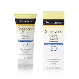 Sheer Zinc Sunscreen Face Lotion