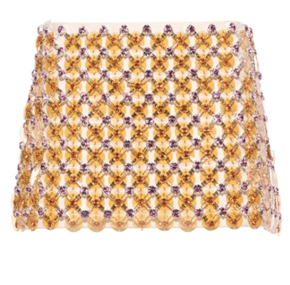 Cady Bead-Embellished Miniskirt