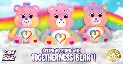 The Togetherness Bear is unique from bear to bear.