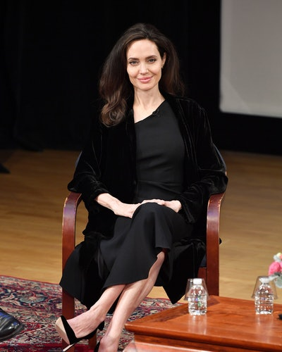 """Angelina Jolie attends the """"Light After Darkness: Memory, Resilience and Renewal in Cambodia"""" discussion at Asia Society on December 14, 2017 in New York City."""