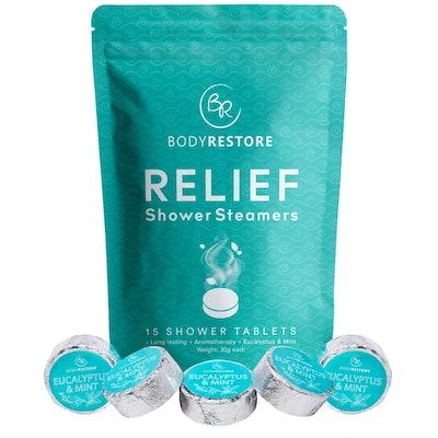 BodyRestore Relief Shower Steamers (Pack of 15)