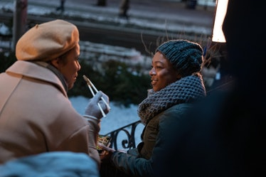 Zawe Ashton as Oona and Samira Wiley as Moira in 'The Handmaid's Tale'