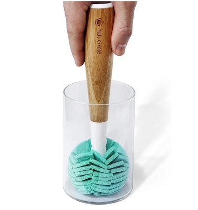 Full Circle Bamboo Handle Cleaning Sponge