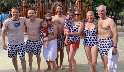 lainosswimwear Disney Print Family Swim Set