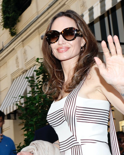 Angelina Jolie And Jacqueline Bisset Leave Their Hotel in Paris, France, on July 9, 2019.