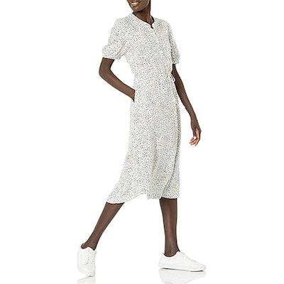 Amazon Essentials Half Sleeve Midi Shirt Dress
