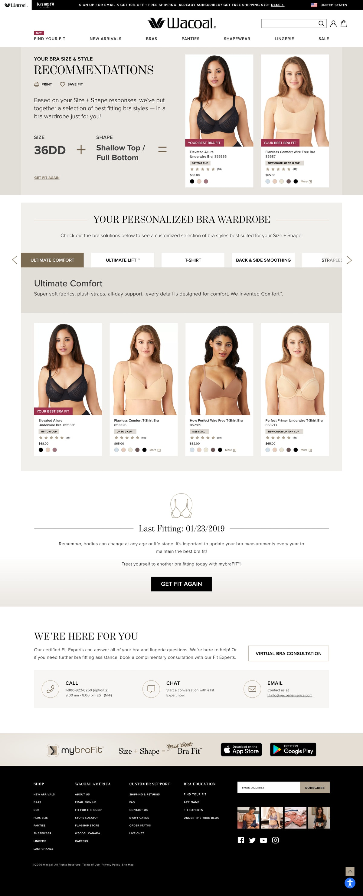 Fit-forward lingerie brand Wacoal has just launched its new AI-powered mybraFIT app — it is availabl...
