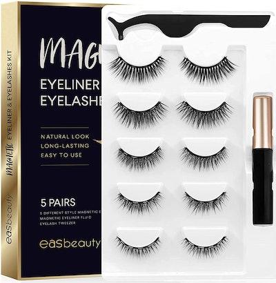 easbeauty Magnetic Eyeliner and Eyelashes Kit (5 Pairs)