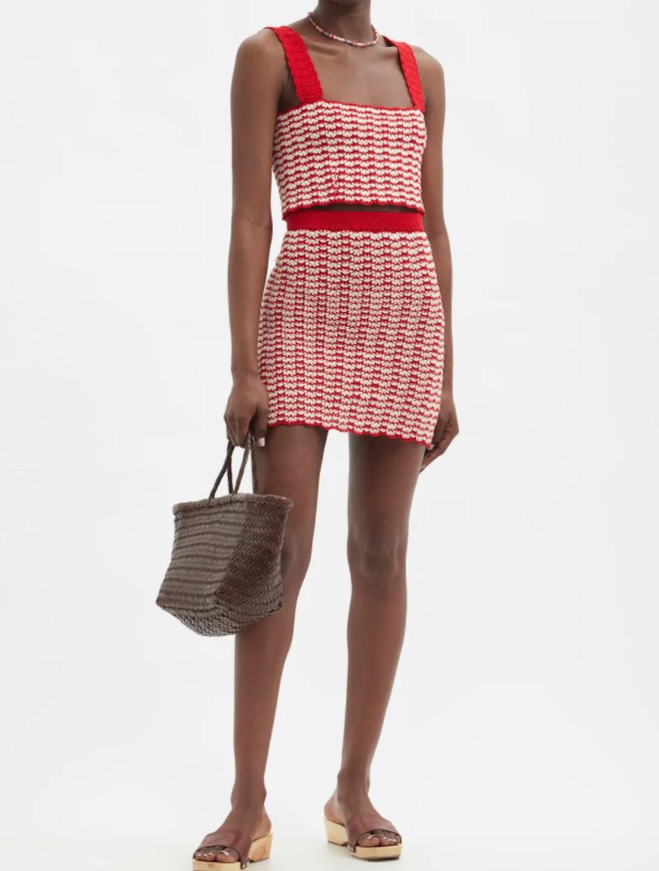 Ana High-Rise Hand-Crocheted Cotton Mini Skirt