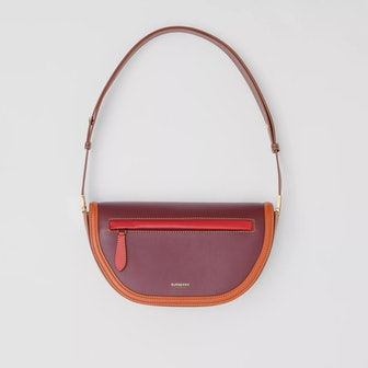Small Colour Block Leather Olympia Bag