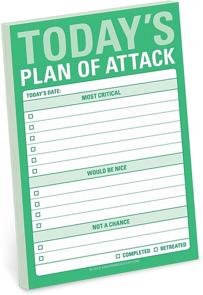 Knock Knock Plan of Attack Great Big Sticky Note