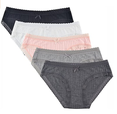 Knitlord Hipster Bamboo Lace Panties (5-Pack)
