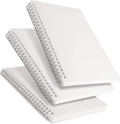 RETTACY Dot Grid Spiral Notebooks (3-Pack)