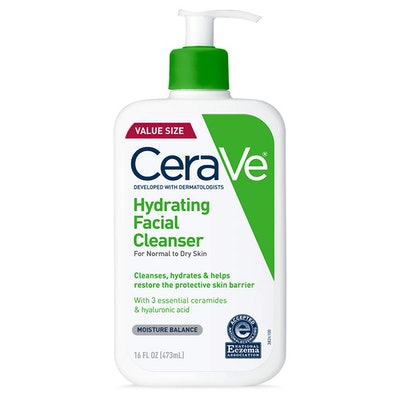 CeraVe Hydrating Facial Cleanser   Moisturizing Non-Foaming Face Wash With Hyaluronic Acid, Ceramides & Glycerin (16 Fl. Oz.)