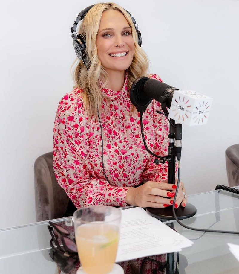 Molly Sims podcast lipstick on the rim