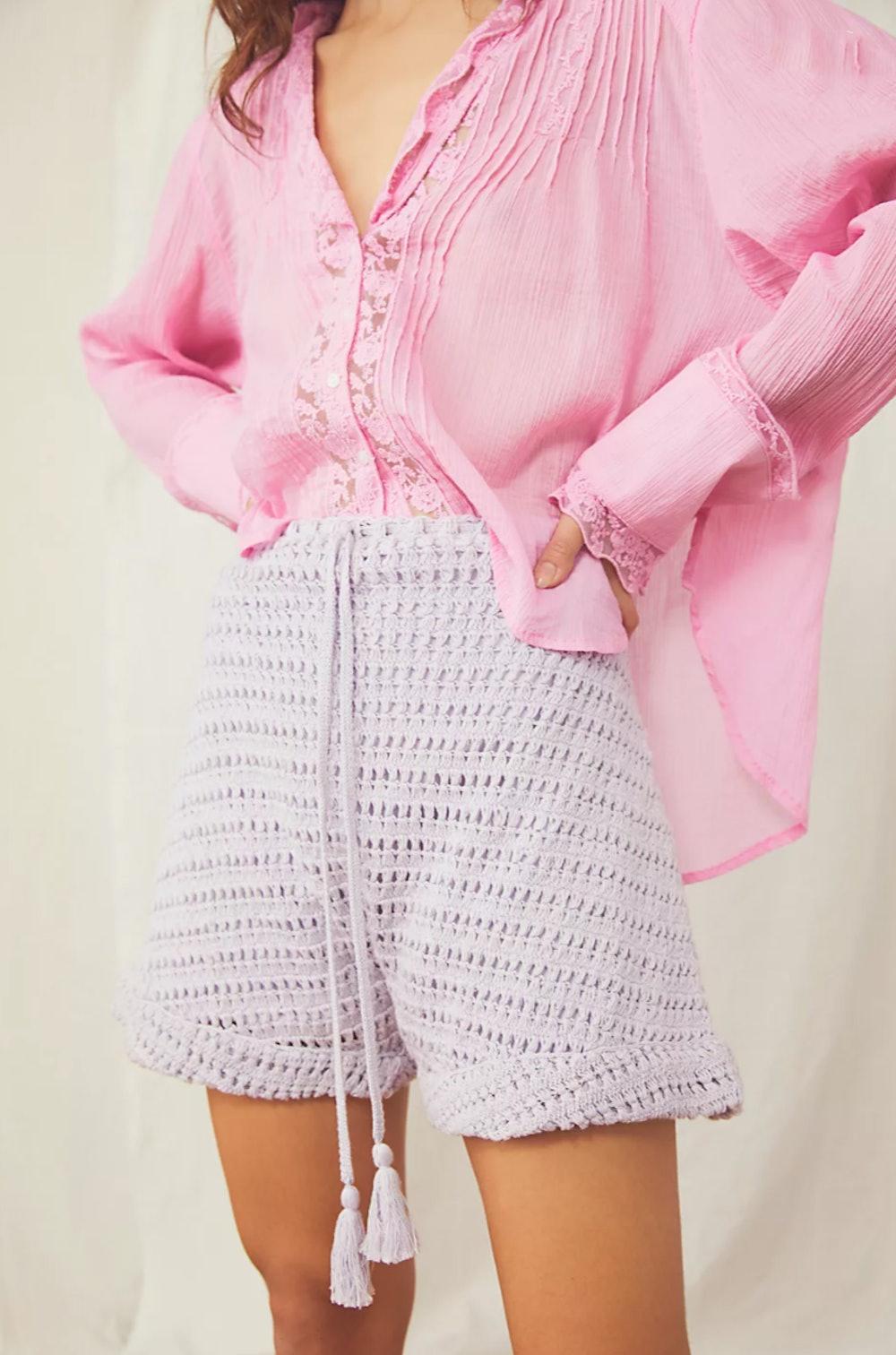 Mira Crochet Harem Shorts
