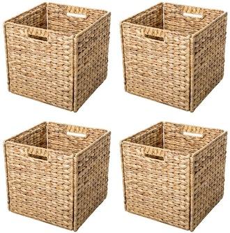 Trademark Innovations Foldable Storage Baskets (4-Piece)