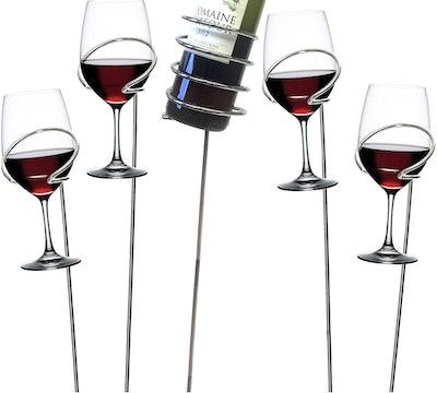 Mind Reader Picnic Wine Sticks (5-Pack)