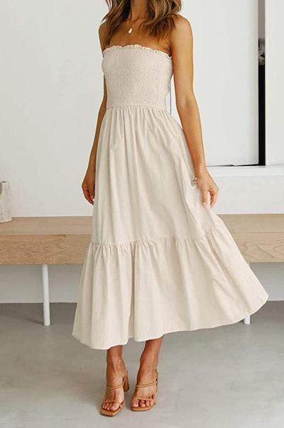 ZESICA  Strapless Maxi Dress