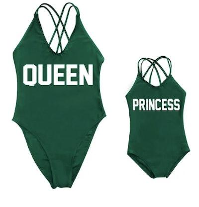 Queen & Princess Matching Swim Set