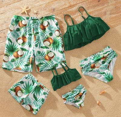 Coconut Print Family Matching Swimsuits