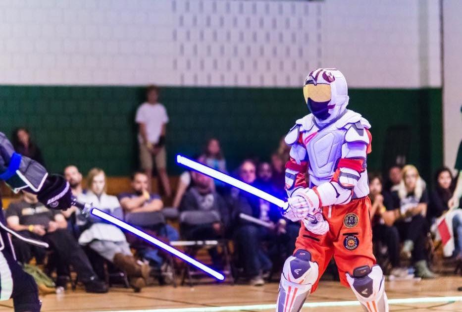 LED saber combat