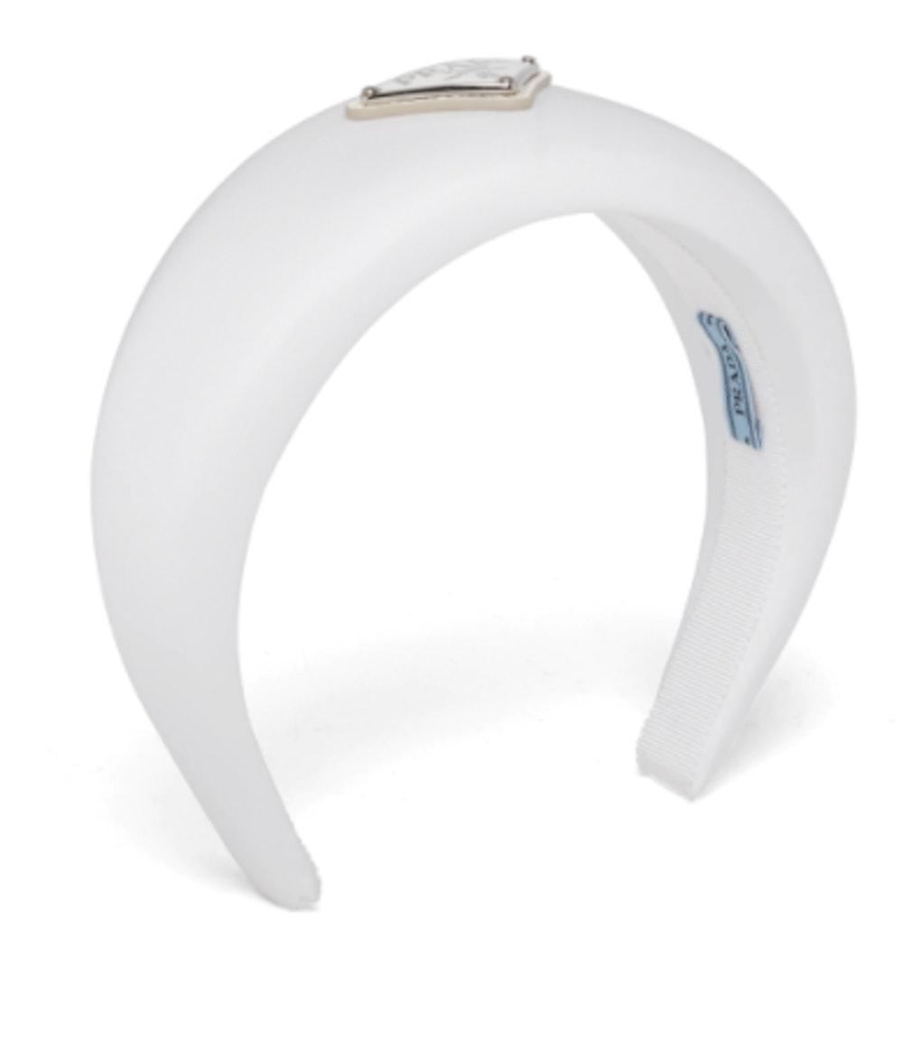 White Re-Nylon Headband