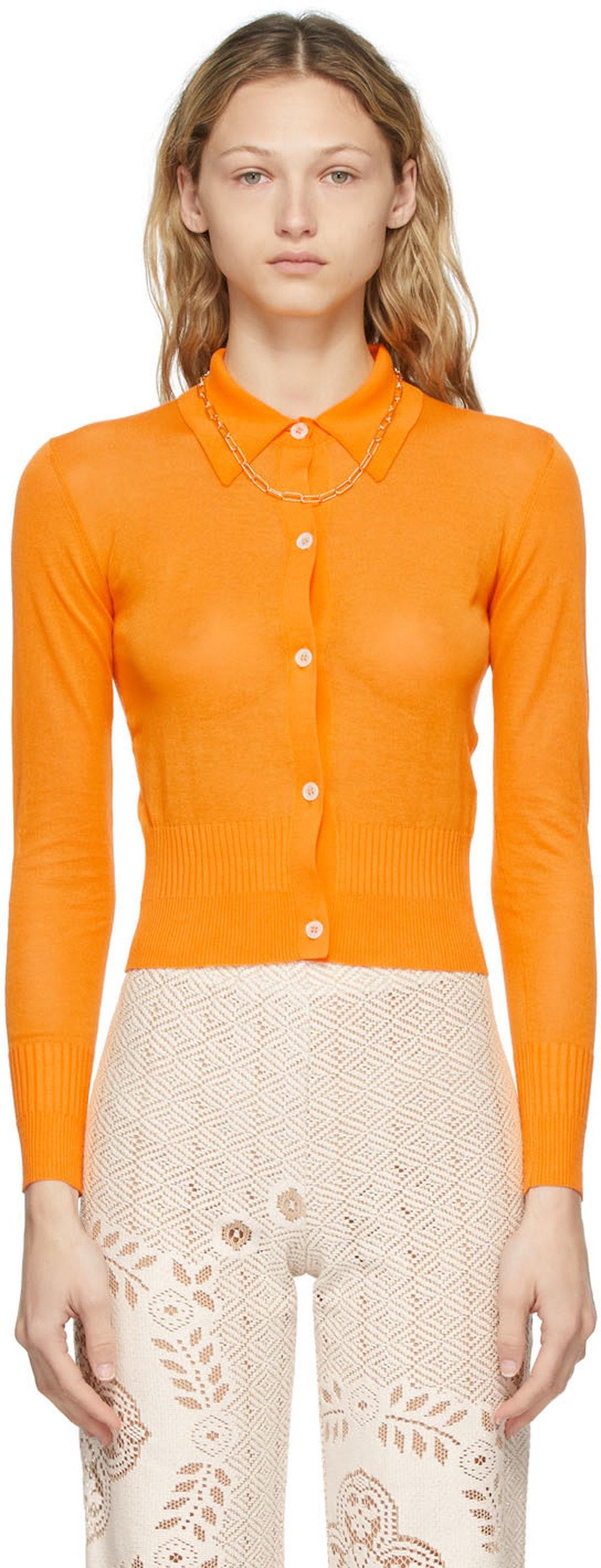 Orange Ceylon Cardigan
