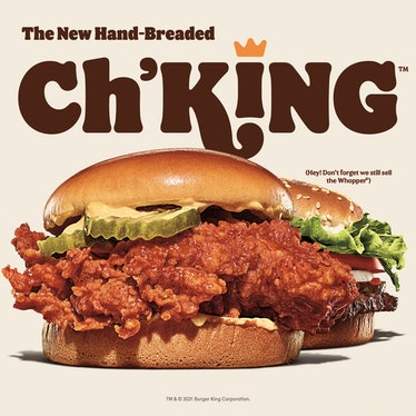Burger King's Ch'King hand-breaded chicken sandwich launches June 3.