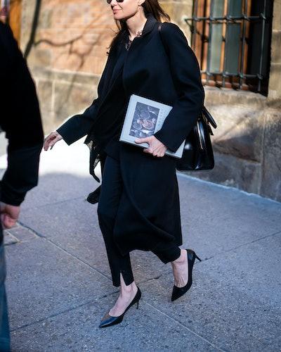 Angelina Jolie is seen in SoHo on February 25, 2019 in New York City.