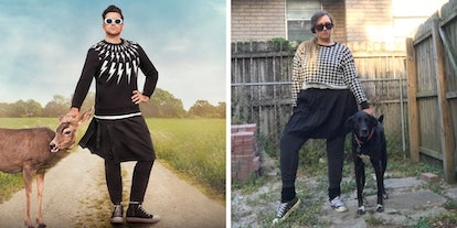 I tried dressing like David Rose from 'Schitt's Creek' in a sweater and skit