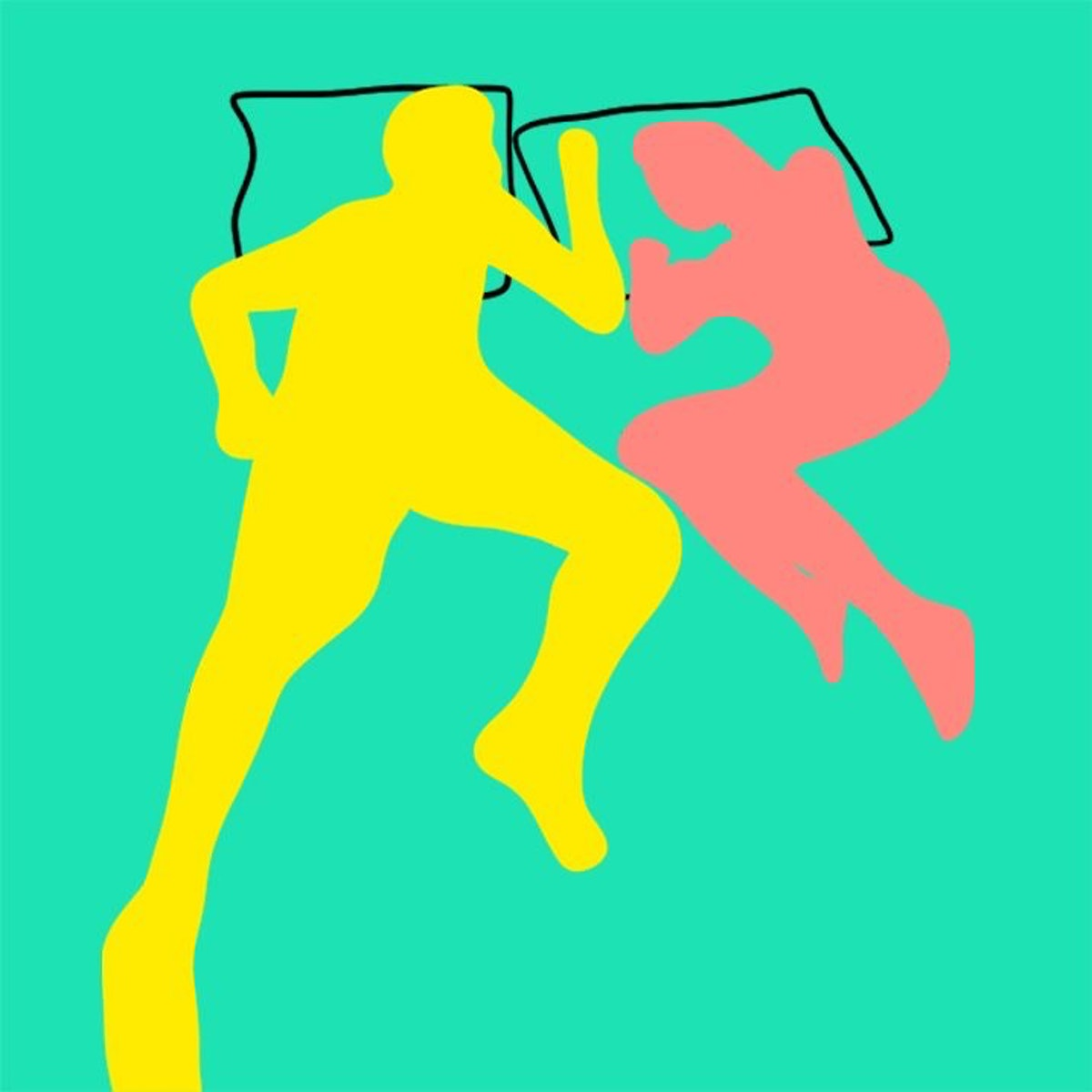 Facing opposite directions when you sleep may mean there's distance between you and your partner.