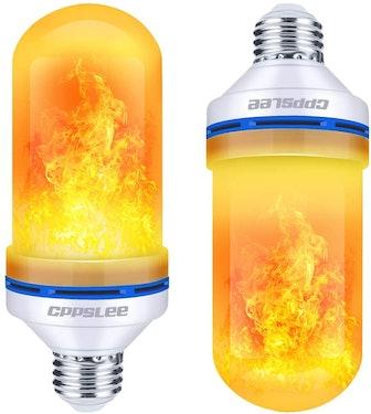 CPPSLEE LED Flame Effect Light Bulb (2-Pack)