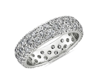 Sleek Diamond Dome Eternity Ring