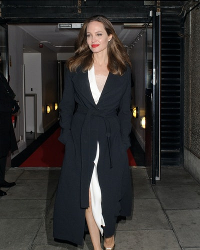 Angelina Jolie seen leaving the BFI on the Southbank on November 23, 2018 in London, England.